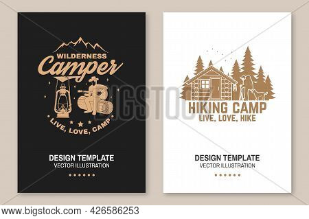 Happy Hiker. Live, Love, Hike. Extreme Adventure. Vector Concept For Shirt Or Print, Stamp. Flyer, B