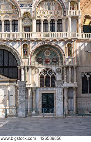 St. Mark's Square, San Marco Is The Tourist Heart Of Venice With Iconic Sights Of St. Mark's Basilic