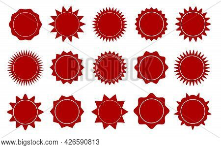 Black Star Stickers. Special Offer Sale Tag, Discount Offer Price Label. Blank Promo Sunburst Sticke