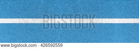 Panorama Of A Close Up Of White Lines Running Track Pattern And Background Seamless