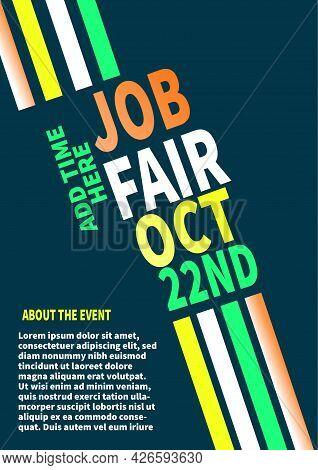 Career Fair Poster Or Flyer Template Deisgn