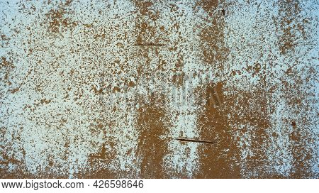 An Old Destroyed Wall With Cracks And Scratches. Abstract Grunge Background Texture For Design Poste