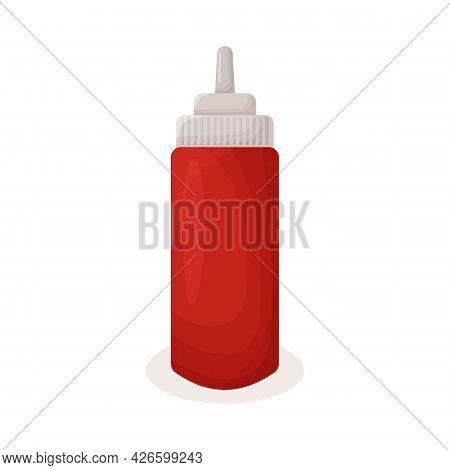 Ketchup. Ketchup In A Bottle. Hot Dog Sauce. Fast Food. Food. Unhealthy Food. Illustration For Desig