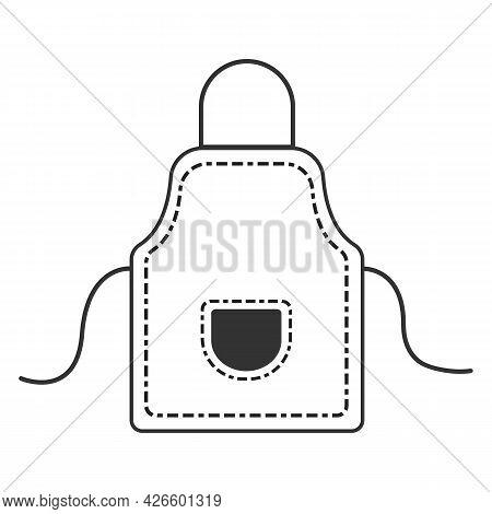 Kitchen Apron Vector Illustration. Restaurant Chef Uniform Apron.