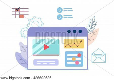 Building Website Project As Programming Homepage Process Vector Illustration Concepts For Website An