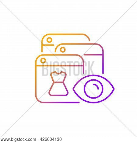 Online Behavioral Tracking Gradient Linear Vector Icon. Targeting Advertisement. Preference Marketin