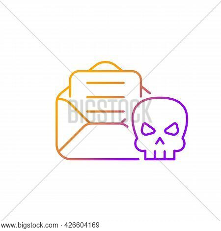 Email Phishing Gradient Linear Vector Icon. Online Scam. Cyber Attack By Sending Malicious Email. De