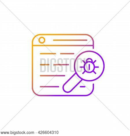 Web Bug Gradient Linear Vector Icon. Web Beacon. Gathering, Tracking Webpage Information. Statistics