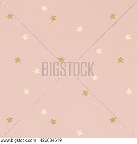 Shimmering gold star patterned background