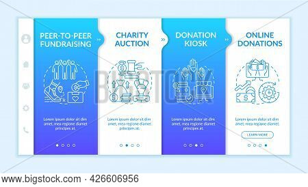 Collecting Money Event Ideas Onboarding Vector Template. Responsive Mobile Website With Icons. Web P