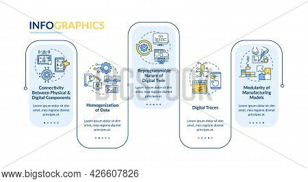 Digital Technologies Characteristics Vector Infographic Template. Ai Presentation Outline Design Ele