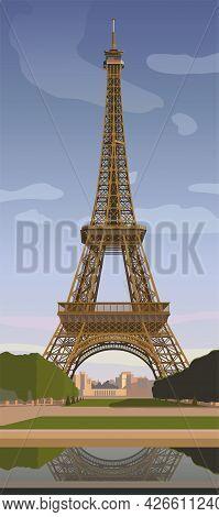 Eiffel Tower In Paris. The Symbol Of Paris. Vector.