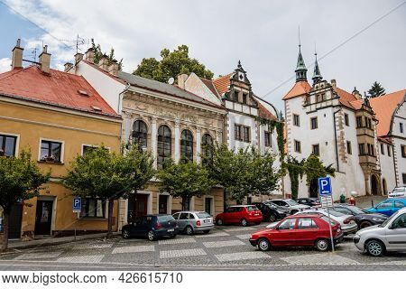 Benesov Nad Ploucnici, North Bohemia, Czech Republic, 26 June 2021: Old Saxoxy Renaissance Morzinov