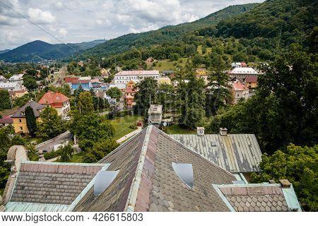 Velke Brezno, Czech Republic, 26 June 2021: Chateau Velke Brezno, View From Castle Tower To The City