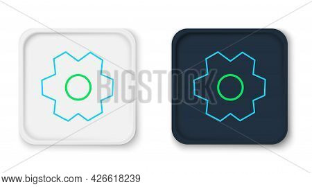 Line Gear Icon Isolated On White Background. Cogwheel Gear Settings Sign. Cog Symbol. Colorful Outli