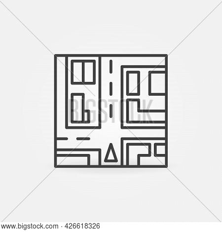 Car Navigation Vector Concept Icon In Thin Line Style