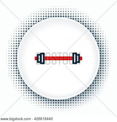 Line Barbell Icon Isolated On White Background. Muscle Lifting Icon, Fitness Barbell, Gym, Sports Eq