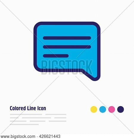 Vector Illustration Of Speech Icon Colored Line. Beautiful Contact Element Also Can Be Used As Chatt