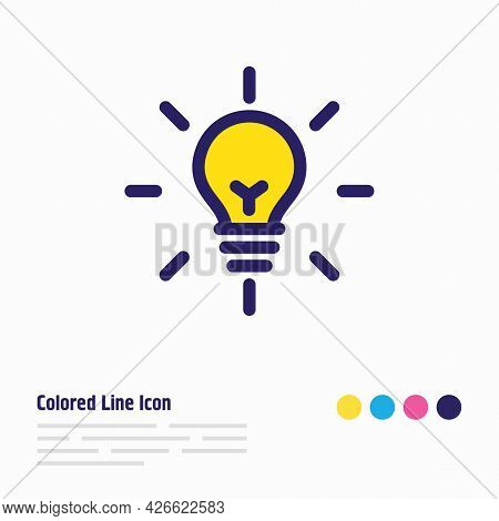 Vector Illustration Of Fresh Idea Icon Colored Line. Beautiful Advertisement Element Also Can Be Use
