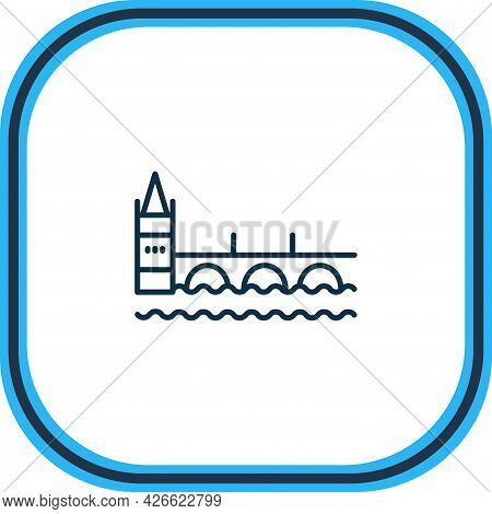 Vector Illustration Of Charles Bridge Icon Line. Beautiful Culture Element Also Can Be Used As Pragu