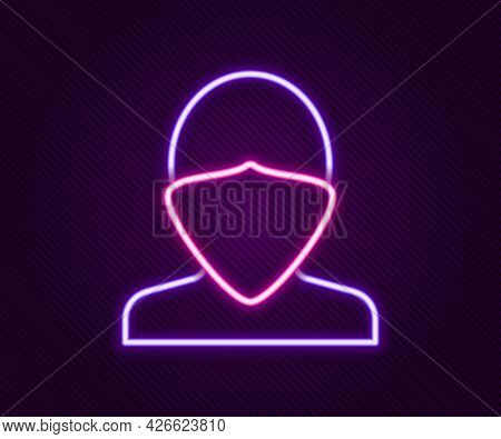 Glowing Neon Line Vandal Icon Isolated On Black Background. Colorful Outline Concept. Vector