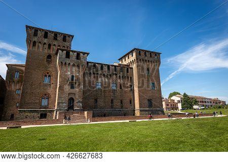 The Medieval Castle Of Saint George (castello Di San Giorgio, 1395-1406) In Mantua Downtown (mantova