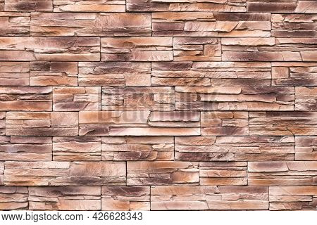 Brown Stone Wall Texture, Uneven Surface, Grunge Brick Background, Abstract Pattern, Rocks Surface,