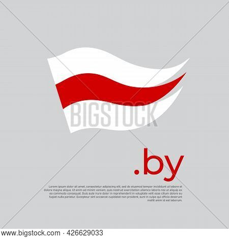 Belarus Flag. Stripes Colors Of The Belarusian Flag On A White Background. Vector Design National Po
