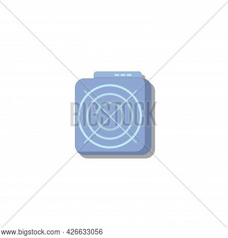 Mining Asic Device Clipart. Mining Asic Device Isolated Simple Vector Clipart