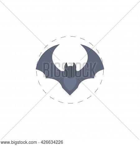 Bat Clipart. Bat Isolated Simple Vector Clipart