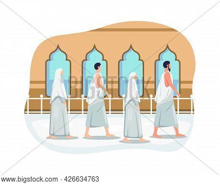 Muslims Doing Islamic Hajj Pilgrimage