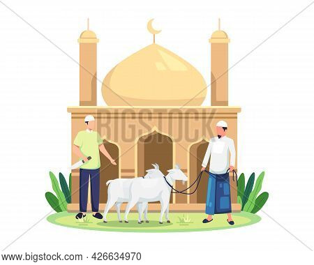 Happy Eid Al Adha The Sacrifice Of Livestock Animal