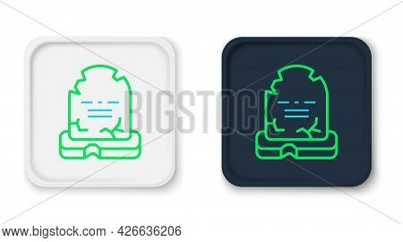 Line Tombstone With Rip Written On It Icon Isolated On White Background. Grave Icon. Happy Halloween