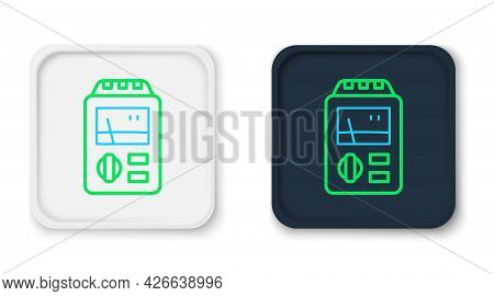 Line Dosimeter For Measuring Radiation Icon Isolated On White Background. Gamma Radiation Personal D