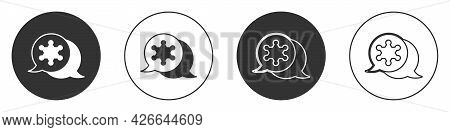 Black Hexagram Sheriff Icon Isolated On White Background. Police Badge Icon. Circle Button. Vector