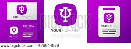 Logotype Psychology Icon Isolated On White Background. Psi Symbol. Mental Health Concept, Psychoanal