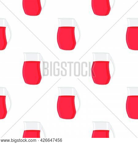 Illustration On Theme Big Colored Lemonade In Glass Jug