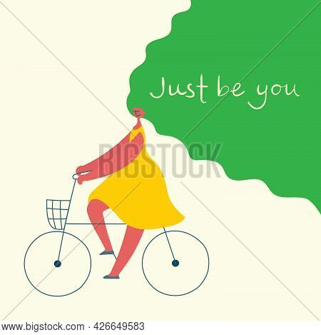 Just Be You. Love Yourself. Vector Lifestyle Concept Card With Text Don T Forget To Love Yourself In