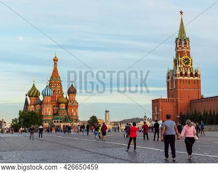 Moscow, Russia - May 24, 2021: Cathedral Of The Intercession Of The Most Holy Theotokos, Spasskaya T
