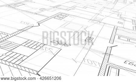 Architectural Plan .house Plan Project .engineering Design .industrial Construction Of Houses .3d Il