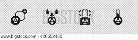 Set Radioactive Exchange Energy, Acid Rain And Radioactive Cloud, Warning Lamp And Meteorology Therm
