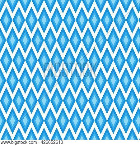 Seamless Blue Diamond Rice. Illustration Art Design. Abstract Background. Vector Eps10.
