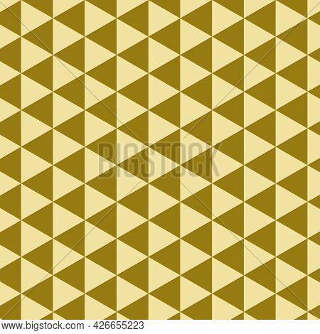 Golden Triangle Abstract Background. Illustration Seamless Art Design. Vector Eps10.