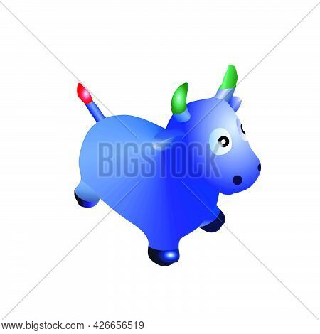 Illustration Of A Cute And Interesting Cow Toy