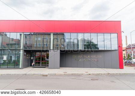 Zielona Gora, Poland - June 1, 2021: Front Of Copernicus Science Centre And Planetarium Venus.