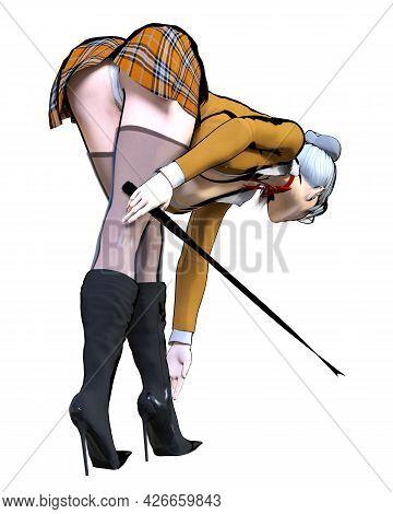 3D Sexy Teacher Whip.