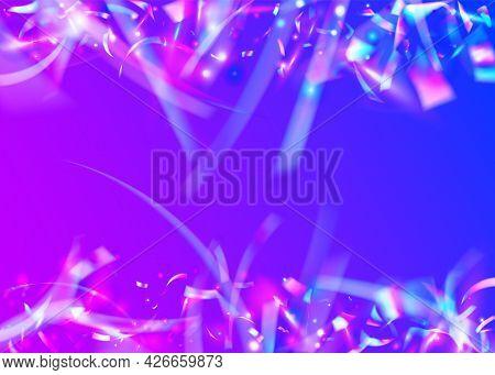 Light Texture. Metal Festival Illustration. Disco Banner. Glitch