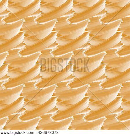 Seamless Texture Brown Wave Brush Stamp. Illustration Art Design.