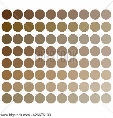 Colorful Skin Tones Palette. Beige Tones Palette. Colorful Palette. Pastel Color. Vector Illustratio