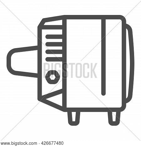 Tv Record Line Icon, Monitors And Tv Concept, Soviet Union Tv Record Vector Sign On White Background